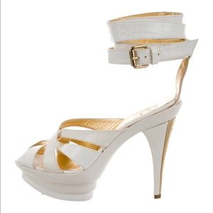 Just Cavalli Embossed Multistrap Sandals